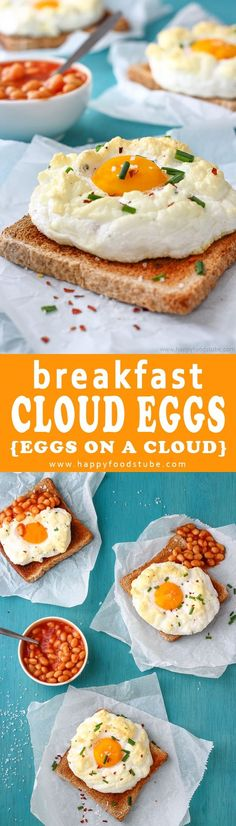 Easy Cloud Eggs Recipe also called Eggs on a Cloud. Its a fun way to make eggs for breakfast. How to make a cloud eggs? Here is super simple recipe and quick step by step video. Imagine fluffy whites, runny yolks and texture light as clouds. That's what e
