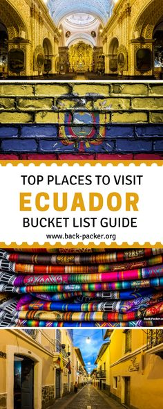 """A guide to the top ten places to visit in Ecuador's Andean Region. While most people are familiar with the popular Galapagos Islands and maybe the capital of Quito, they are missing out on the """"La Sierra"""" area. Full of stunning natural scenery and landscapes, these are beautiful destinations in Ecuador you won't want to miss. Travel in South America. 