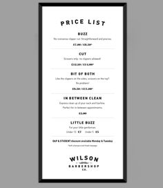 Wilson Barber Shop Branding by Cameron Turnbull