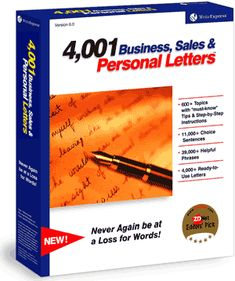 4,001 Business, Sales & Personal Letters