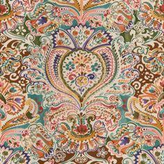 Lee Jofa COSTES TEAL/PINK Fabric