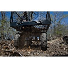 When you're doing your biggest jobs, the Strongway Jumbo Wagon is the best work companion that you could ask for. Landscaping Tools, Landscaping With Rocks, Backyard Water Feature, Ponds Backyard, Pallet Lift, Patio Blocks, Garden Wagon, Pull Wagon, Building A Pond