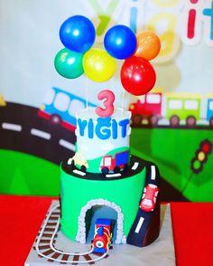 Train cake , children birthday cake , cars cake, vehicle cake , toys cake