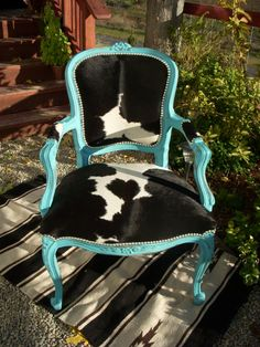 Made to order Turquoise and Black & White Cowhide by LachNLoaded