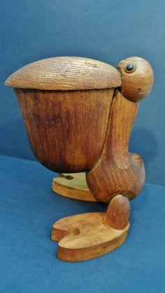 Vintage 1960s Zoo Line Teak Pelican Mid Century Modern Kay Bojesen Fans | eBay
