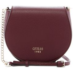 Guess Cate Mini Saddle Crossbody Bag (2.840 RUB) ❤ liked on Polyvore  featuring bags 69baf8f479f0d