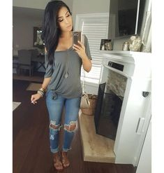 """3,101 Likes, 42 Comments - Monica Gabriela (@itsmsmonica) on Instagram: """"That simple mommy life ✌ #outfitoftheday Tee @shopdressygirl Jeans @victoriasboutique2012"""""""