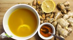 Lemon Ginger Turmeric Tea: A Medicinal Drink To Heal And Prevent Colds And The Flu - Healthy Gaga Fresh Turmeric Root, Turmeric Tea, Tumeric Face, Healthy Drinks, Healthy Tips, Healthy Recipes, Juice Recipes, Tea Recipes, Recipies