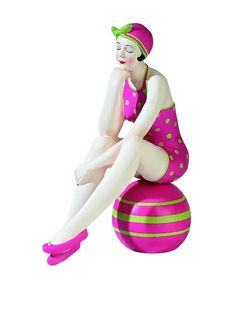 Large Resin Beach Beauty in Bright Pink Swimsuit with Green Dots on Striped Ball, http://www.myhabit.com/redirect/ref=qd_sw_dp_pi_li?url=http%3A%2F%2Fwww.myhabit.com%2Fdp%2FB00CS6UIYC
