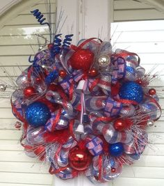 Let Liberty Ring Patriotic Wreath by HertasWreaths on Etsy, $85.00