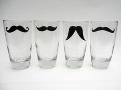 mustache shot glasses.