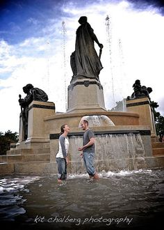 Fountain-  Engagement...Kit Chalberg Photography