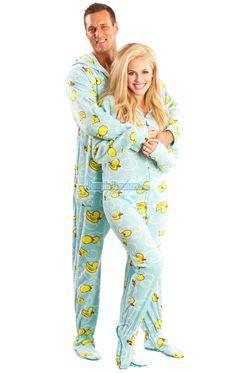 Couples #Pajamas: Pink Leopard Footed Pajamas | Matching Pajamas ...