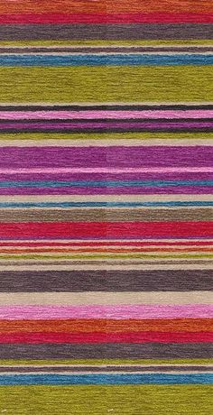 Asolo Upholstery Fabric Multi stripe chenille in purple pinks red and ...