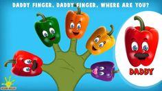 The Finger Family Capsicum Family Nursery Rhyme | Capsicum Finger Family...