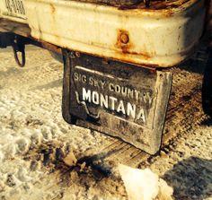 Take a back road | Big Sky Country. Montana Mud flap. Seeley Lake, MT