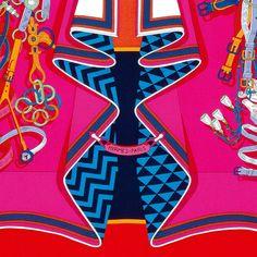 "Hermès, EENY MEENY MINY MOE Silk twill scarf ""Bouquets..."