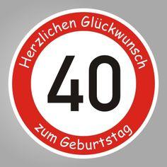 Zum 40 Geburtstag Quot Herzlichen Glückwunsch Quot Ab 42 Cm