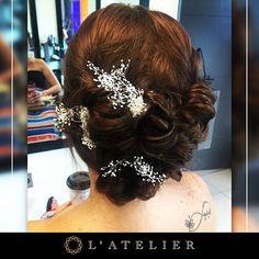 Ponte en manos de los expertos. Te aseguramos que te encarará el resultado!  #lateliermeencanta #peinados #peinado #hair #hairstyle #hairstylist #recogidos #recogidosdefiesta #amazing #beauty #beautysalon #arreglo #adornos #siemprebella