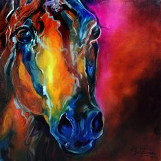 """ALLURE ARABIAN EQUINE ABSTRACT"""" by Marcia Baldwin, Shreveport, Louisiana // The allure of the Arabian spirit. Description from pinterest.com. I searched for this on bing.com/images"""
