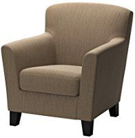 IKEA - EKENÄS, Armchair, Hensta light brown, , The high back gives good support for your neck and head.Hardwearing cover of chenille quality with a slight sheen and a soft year guarantee. Read about the terms in the guarantee brochure. Ikea Armchair, Brown Armchair, Recliner Chairs, Ikea Algot, Fabric Armchairs, Wing Chair, Solid Pine, Quality Furniture, Foot Rest