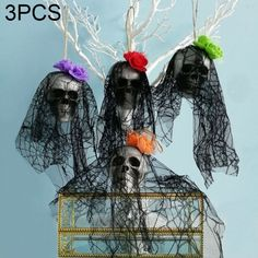 3 Pcs Luminous Tree Elf Horror Evil Doll for Halloween Ghost Festival