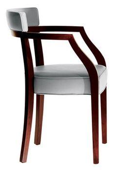 Neoz Padded armchair - Mogahy & fabric Ebony by Driade