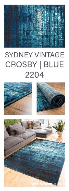 Soft, warm, neutral tones are accented with bright, cool of blues.