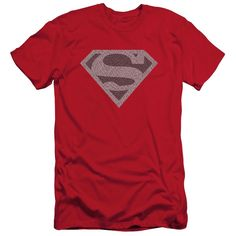 Superman/Elephant Shield Short Sleeve Adult T-Shirt 30/1 in