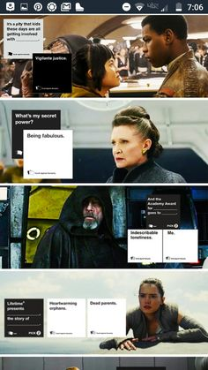 Star Wars and cards against humanity