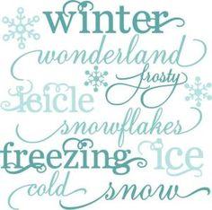 Winter Words SVG cutting files snow svg cut file winter svgs free svg cuts free svg files by dwbuthod