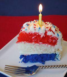 fourth of july birthday cake photobucket Fourth Of July Cakes, Fourth Of July Food, July 4th, Blue Birthday Cakes, July Birthday, Happy Birthday, Birthday Parties, Cupcakes, Cupcake Cakes
