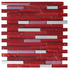 Quartz Corinto Strip Pattern Glass and Marble Mosaic Tile #corinto_strip_pattern_mosaic_tile #glass_marble_mosaic_tile
