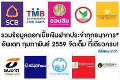 คนที่กำลังจะเริ่มเก็บเงินฟังทางนี้ !! iMoney.in.th มีของดีมาแจก เป็นตารางสรุปข้อมูลอัตราดอกเบี้ยเงินฝากประจำทุกธนาคารในไทย พร้อม Link Dowload ไฟล์ Excel เอาไปดูกันให้หนำใจ เว็บเดียวจบ อ่านรายละเอียดต่อได้ที่ : http://imoney.in.th/YmdNw ถ้าใครชื่นชอบอย่าลืม กด Like กด Share ให้ให้กำลังใจพวกเราทีมงาน iMoney.in.th ด้วยนะครับ ^^ ผู้สนับสนุนหลักอย่างไม่เป็นทางการ : http://imoney.in.th/ #imoney #imoneyinth #เงินฝากประจำ #ดอกเบี้ยเงินฝาก