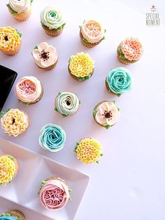 http://www.special-moment.today/ #flowercupcake #buttercream #piping…