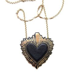 Heart Pendant Black Large now featured on Fab.