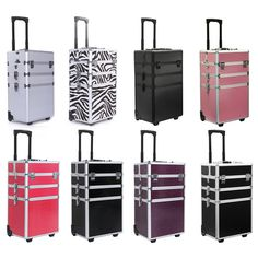 4 in 1 Rolling Makeup Case Cosmetic Train Cases Beauty Box ----FREE SHIPPING----