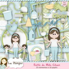 Digital Kit Mother Style Clean by Lu Ifanger