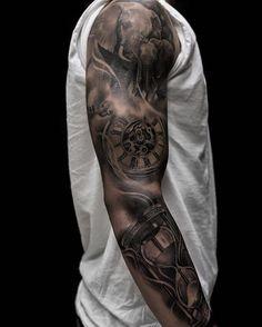 pocket watch tattoo44