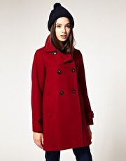 Sessun Pallenberg '60s Swing Peacoat