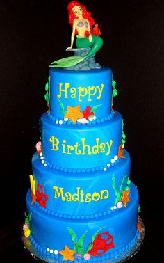 Little Mermaid Cake.  For more pics of our work, visit our website: www.simplysweetonline.com