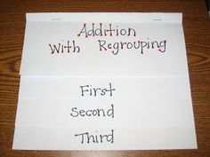 Grade- Teaching addition with Regrouping- Buggy for Second Grade: Addition, Addition, and More Addition Math Resources, Math Activities, Math Strategies, Math Games, Math Classroom, Classroom Ideas, Future Classroom, Classroom Secrets, Math School