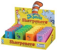 Geddes Dr. Seuss(TM) Eraser/Sharpener Assortment - Set of 24