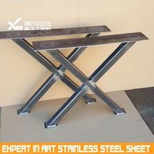 Stainless Steel Iron Furniture Metal X Leg For Wooden Table Dining Table Legs Table Legs Metal Dining Table