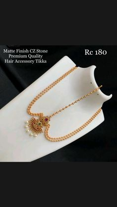 Mang Tikka, Gold Necklace, Rings, How To Wear, Jewelry, Fashion, Moda, Gold Pendant Necklace, Jewlery
