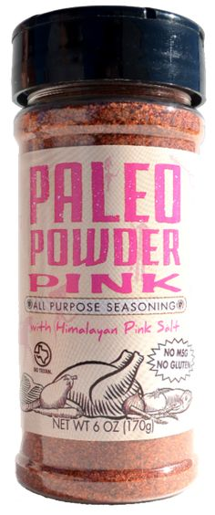Paleo Powder Pink all purpose seasoning blend. Have a salt preference? We've got you covered with this Himalayan Pink Salt version of our all purpose blend. Just has hard working as our Original seasoning, Paleo Powder Pink changes the Brussels sprouts game, takes your steak night in to another level and can even bring the excitement back to those zucchini noodles. INGREDIENTS: Himalayan pink salt, chili powder, garlic powder, black pepper, onion powder, white pepper, cumin, cayenne p...