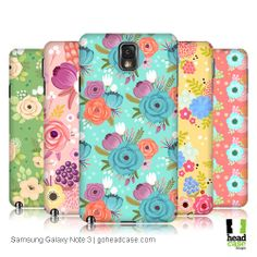 Unique style meets high quality protection with Head Case Designs' top-selling mobile back cases featuring Whimsical Flower Designs for for Samsung Galaxy Note 3