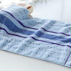 Multicolor Striped Cotton Towel Large Soft Breathable Household Bath Face Towel