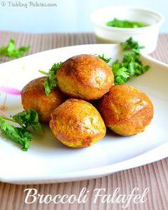 Low Fat Broccoli Falafel with Tahini Sauce | ticklingpalates.com #vegan #glutenfree #ticklingpalates