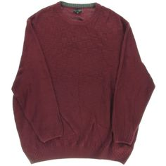 Geoffrey Beene Mens Big & Tall Knit Ribbed Trim Pullover Sweater